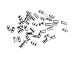 Beadalon Silver (plated) Crimp Tubes for 1.0mm Stretch Cord
