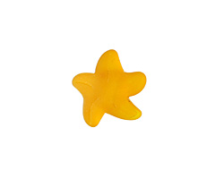 Saffron Yellow Recycled Glass Starfish 21mm
