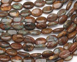 African Green Opal Flat Oval 14x10mm