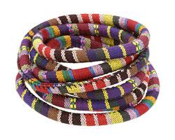 Dark Purple Round Woven Cotton Cord 6mm