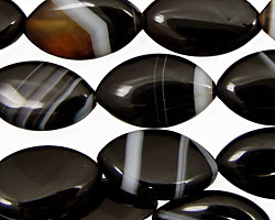 Black Sardonyx Horse Eye 20x12mm