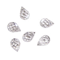 Crystal Clear Faceted Teardrop 6x9mm