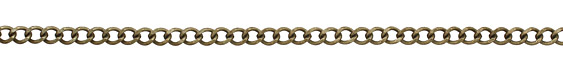 Antique Brass (plated) Dapped Curb Chain