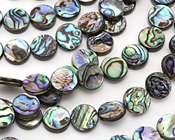Abalone Puff Coin 12mm