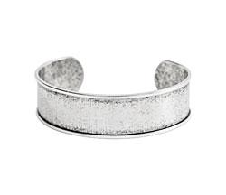 "Nunn Design Antique Silver (plated) 3/4"" Channel Cuff Bracelet 65mm"
