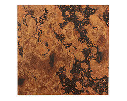 "Lillypilly Mottled Patina Copper Sheet 3""x3"", 24 gauge"