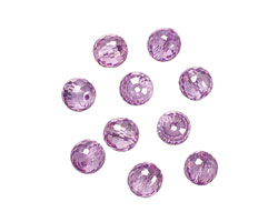 Lilac Faceted Round 8mm
