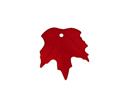 Matte Dark Ruby Lucite Maple Leaf 18x19mm