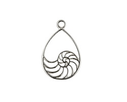Amoracast Sterling Silver Nautilus Shell Drop 11x17mm