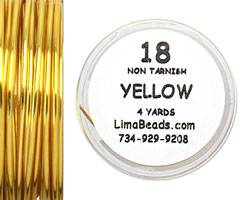 Parawire Yellow 18 Gauge, 4 Yards