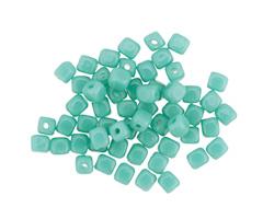 Czech Glass Green Turquoise Cube 3mm