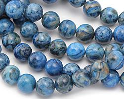 Larimar Blue Crazy Lace Round 12mm
