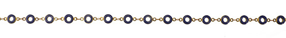 Zola Elements Cobalt Ring Brass Chain