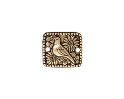 TierraCast Antique Gold (plated) Paloma Link 16x14mm