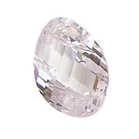 Crystal Clear Faceted Twisted Oval 15x17mm