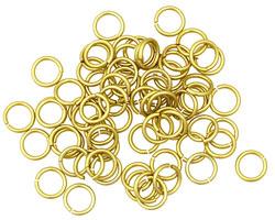 Yellow Anodized Aluminum Jump Ring (Saw Cut) 6mm, 20 gauge (4.1mm inside diameter)