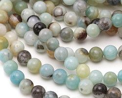 Black Gold Amazonite Round 8mm