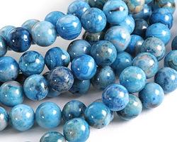 Larimar Blue Crazy Lace Agate Round 8mm