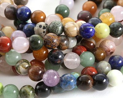 Earth Tones Gemstone Mix Round 10mm
