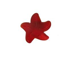 Cherry Red Recycled Glass Starfish 21mm