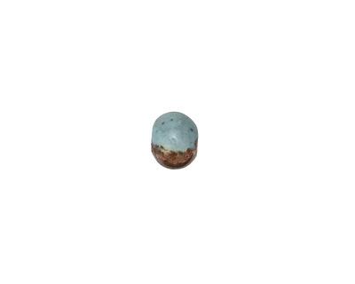 Greek Ceramic Raku Metallic Frosted Copper Tiny Round 6-7mm