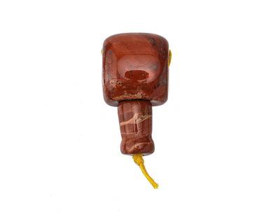 Red Jasper Barrel Guru Bead 18mm