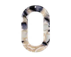 Zola Elements Black Pearl Acetate Oval Donut 27x44mm