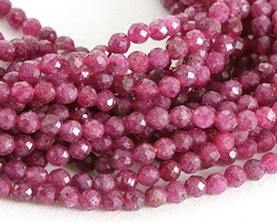 Pink Tourmaline Faceted Round 3-4mm