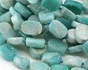 Madagascar Amazonite Rough Cut Graduated Nugget Slice 12-20x9-14mm