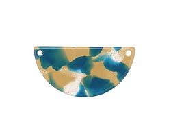 Zola Elements Tide Pool Acetate Half Circle Link 30x15mm