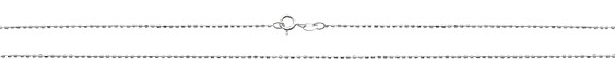 Sterling Silver Finished Faceted Barrel Chain 18""