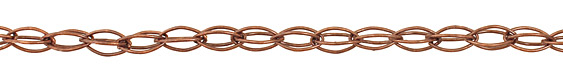 Antique Copper (plated) Interlocking Horse Eye Chain
