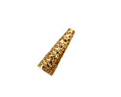 Antique Brass (plated) Small Dimpled Cone 17x6mm