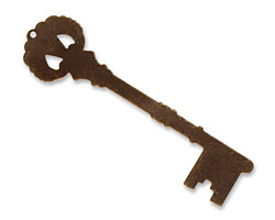Vintaj Natural Brass Manor Key Altered Blank 19x65mm
