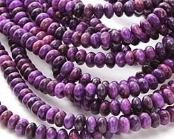 Purple Crazy Lace Agate Rondelle 4x6mm