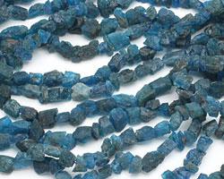 Pacific Blue Apatite Rough Nugget 6-12x6-10mm