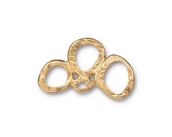 TierraCast Gold (plated) 3 Ring Link 25x14mm