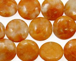 Orange Calcite Puff Coin 14mm