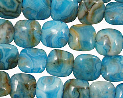 Larimar Blue Crazy Lace Puff Square 10mm