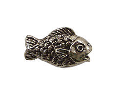 Green Girl Pewter Fishy 25x16mm