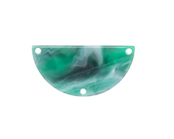 Zola Elements Emerald Marbled Acetate Half Circle Y-Connector 30x15mm