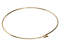 Gold (plated) Simple Neck Collar w/ Flat Hook & Eye Closure 12 gauge
