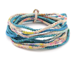 Beachy 100% Silk Sari Ribbon Cord