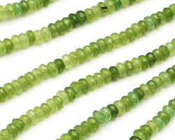 Green Quartz Faceted Rondelle 4mm