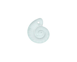 Seafoam Recycled Glass Ammonite Pendant 15x18mm
