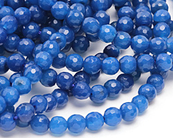 Cobalt Agate Faceted Round 6mm