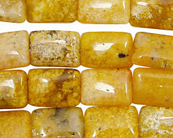 Natural Yellow Agate Thin Pillow 14x10mm