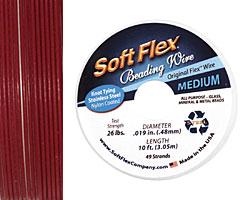 """Soft Flex Garnet .019"""" (Medium) 49 Strand Wire 10ft."""