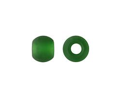 Shamrock Recycled Glass Rondelle (large hole) 12x10mm
