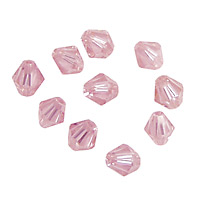 Pink Peony Faceted Bicone 6mm